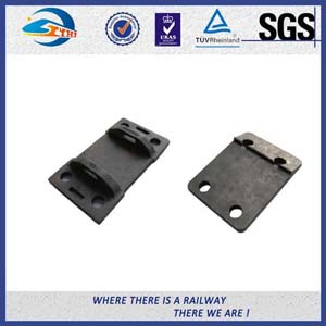 OEM Cast Steel Railroad Tie Plates For Rail Construction , Rail Base Plate
