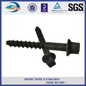 Oxide Black 8.8 Grade Railway Sleeper Screws DIN Standard High Hardness